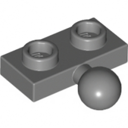 LEGO 6039479	PLATE 1X2 BALL Ø5.9 MIDDLE - Dark Stone Grey lego-6039479-plate-1x2-ball-o59-middle-dark-stone-grey ici :