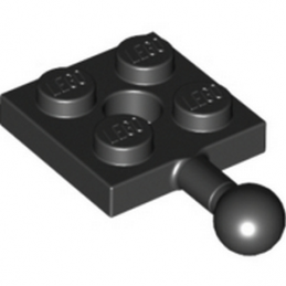 LEGO 6051038 PLATE 2X2 W. BALL - BLACK
