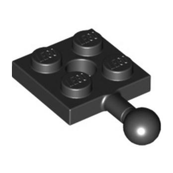 LEGO 6359224 PLATE 2X2 W. BALL - BLACK