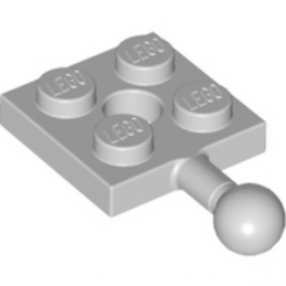 LEGO 6063611	PLATE 2X2 W. BALL - Medium Stone Grey