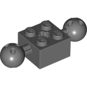 LEGO 6065816 BRICK 2X2 W. 2 BALLS Ø 10,2 - Dark Stone Grey