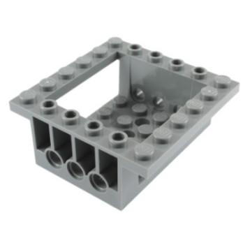 LEGO 4209726 - BRICK 6X6X2 W. Ø4,85 - Dark Stone Grey