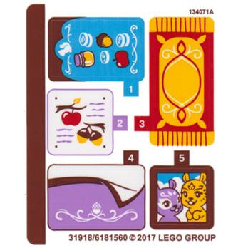 Stickers / Autocollant Lego Elves - 41182