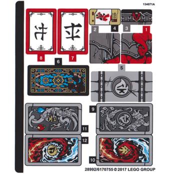 Stickers / Autocollant Lego Ninjago 70627