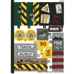 Stickers / Autocollant Lego Super Heroes - 76078