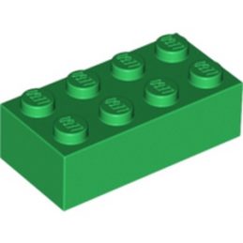 LEGO 4106356 BRICK 2X4 - DARK GREEN