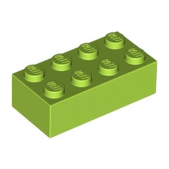 LEGO 4165967 BRICK 2X4 - BRIGHT YELLOWISH GREEN