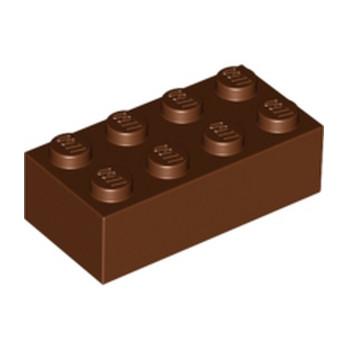 LEGO 4211201 BRICK 2X4 - REDDISH BROWN