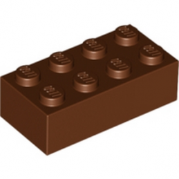 LEGO 4211201 BRIQUE 2X4 - REDDISH BROWN
