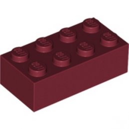 LEGO 4163803 Brique 2X4 - New Dark Red