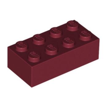 LEGO 4163803 BRIQUE 2X4 - NEW DARK RED