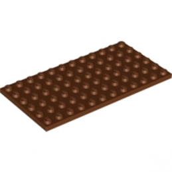 LEGO 4264669PLATE 6X12 - Reddish Brown