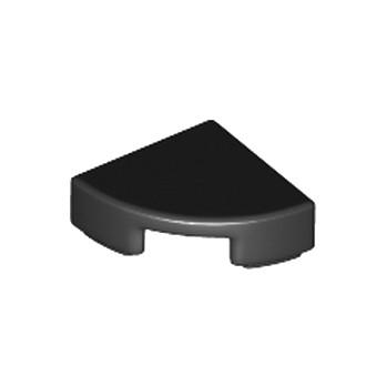 LEGO 6172383 - Plate Lisse 1/4 Rond 1X1 - Noir