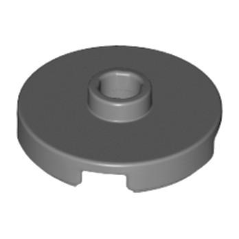 LEGO 6115080  PLATE ROUND W. 1 KNOB  - Dark Stone Grey