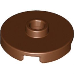 LEGO 6102360  PLATE ROUND W. 1 KNOB  - Reddish Brown