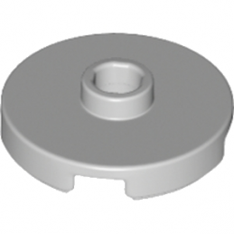 LEGO 6183782 PLATE ROND 2X2 + TROU - MEDIUM STONE GREY