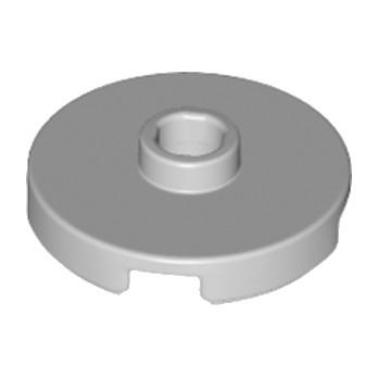 LEGO 6183782 - Plate Rond W. 1 KNOB  - Médium Stone Grey