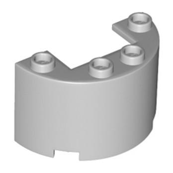 LEGO 6134782 Wall 1/2 circle 2x4x2 w/cutout - Medium Stone Grey