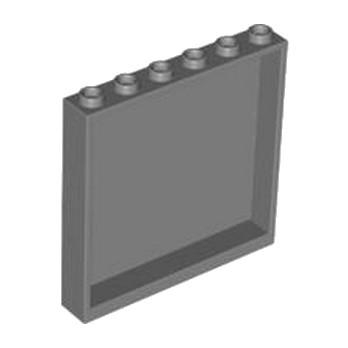 LEGO 4505068 MUR / CLOISON 1x6x5 - DARK STONE GREY