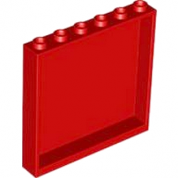 LEGO 4505067  MUR / CLOISON 1X6X5 - ROUGE