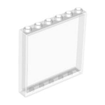 LEGO 4504229 MUR / CLOISON 1X6X5 - TRANSPARENT