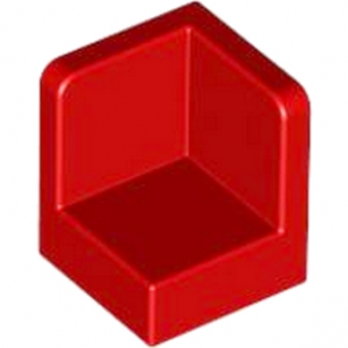LEGO 623121 WALL CORNER 1X1X1 - ROUGE