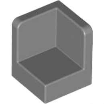LEGO 4215347 WALL CORNER 1X1X1 - Dark Stone Grey