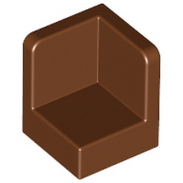 LEGO 4645400 -  WALL CORNER 1X1X1 - Reddish brown