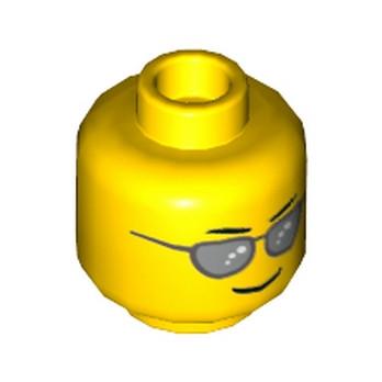 LEGO 6112623 TETE HOMME AVEC LUNETTE