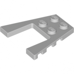 LEGO 6093960 PLATE 4X4 W/ANGLE - MEDIUM STONE GREY