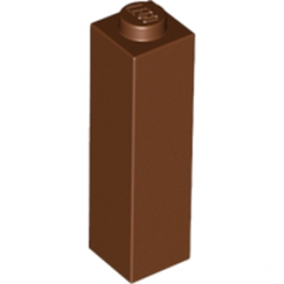 LEGO 6177699 BRIQUE 1X1X3 - REDDISH BROWN