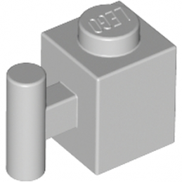 LEGO 4225532 BRICK 1X1 W. HANDLE - Medium Stone Grey