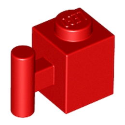 LEGO 292121  BRICK 1X1 W. HANDLE - ROUGE
