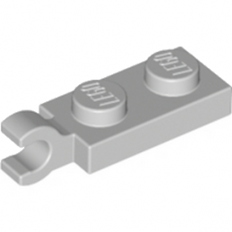 LEGO 4535738	PLATE 2X1 W/HOLDER,VERTICAL - Medium Stone Grey