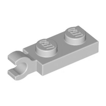 LEGO 6319336 PLATE 2X1 W/HOLDER,VERTICAL - MEDIUM STONE GREY
