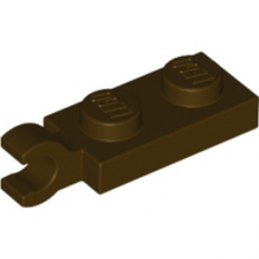 LEGO 6141589 PLATE 2X1 W/HOLDER,VERTICAL - Dark Brown