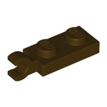 LEGO 6347286 PLATE 2X1 W/HOLDER,VERTICAL - DARK BROWN