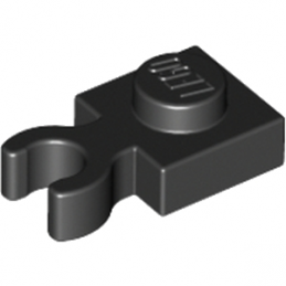 LEGO 408526 PLATE 1X1 W. HOLDER - NOIR