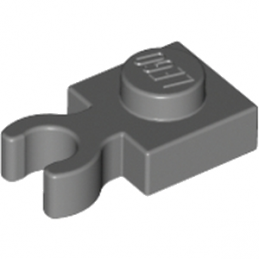 LEGO 4210632 PLATE 1X1 W. HOLDER - Dark Stone Grey