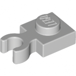 LEGO 4211479	PLATE 1X1 W. HOLDER - Medium Stone Grey lego-6296894-plate-1x1-w-holder-medium-stone-grey ici :