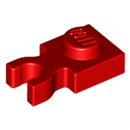 LEGO 408521 PLATE 1X1 W. HOLDER - ROUGE