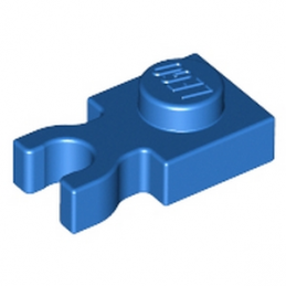LEGO  408523  PLATE 1X1 W. HOLDER - BLEU
