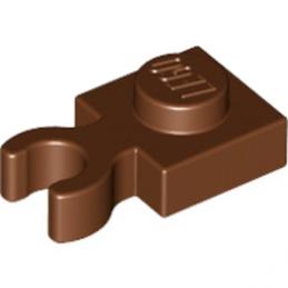 LEGO 6066142 PLATE 1X1 W. HOLDER - Reddish Brown