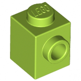 LEGO 4566860 	BRICK 1X1 W. 1 KNOB - Bright Yellowish Green lego-6073026-brique-1x1-w-1-knob-bright-yellowish-green ici :