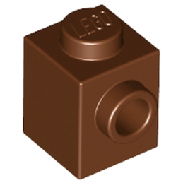 LEGO 4618545  BRIQUE 1X1 W. 1 KNOB - REDDISH BROWN