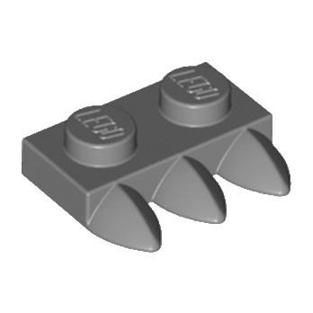 LEGO 6083980 DENT / GRIFFE 1X2 - DARK STONE GREY