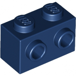 LEGO 6135606 BRIQUE 1X2 W. 2 KNOBS - EARTH BLUE