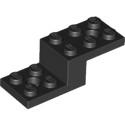 LEGO 6039194 STONE 1X2X1 13 W. 2 PLATES 2X2 - NOIR
