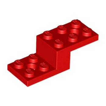 LEGO 6029952 STONE 1X2X1 13 W. 2 PLATES 2X2 - ROUGE