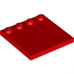 LEGO 617921 PLATE 4X4 W. 4 KNOBS - ROUGE